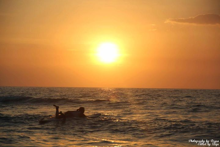 Sunset surf sessions.