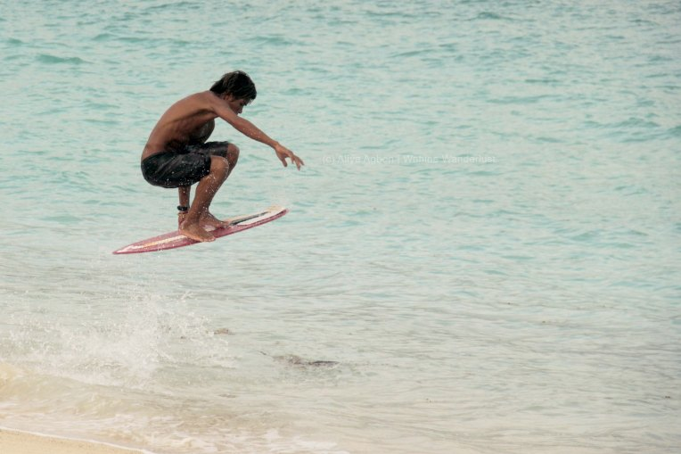 Bayogyog Aporbo, 2-time champion of the Penang International Skimboarding Competition