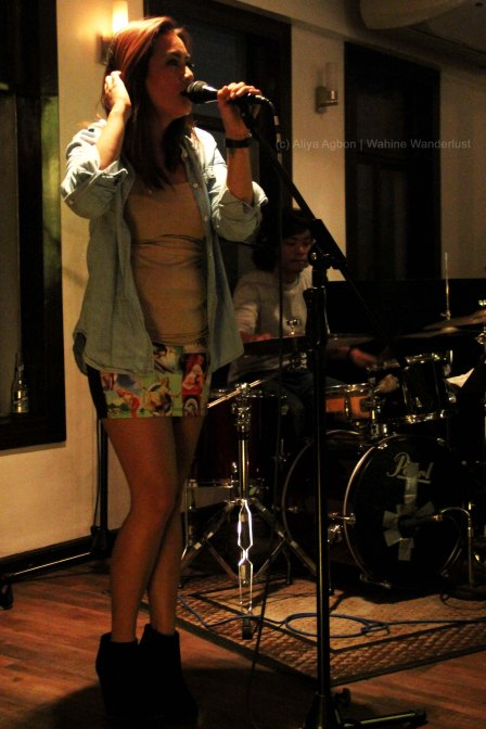 Telay Robles on vocals and her husband, Benjo, on drums.